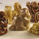 Wade Whimsie 5 Figurines Beaver Puppy Languor Pine Martin