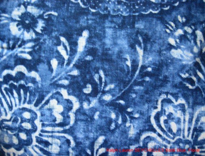 RL Seychelles BATIK Floral Blue STANDARD QN Pillowcases
