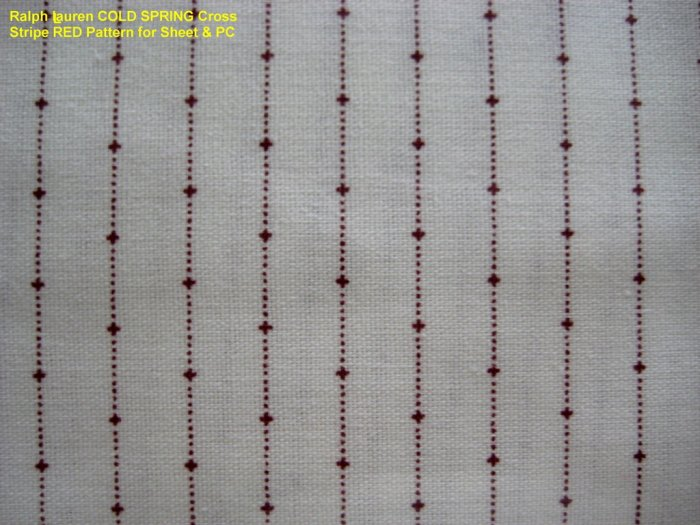 Ralph Lauren COLD SPRING Cross Stripe Red TWIN FLAT NIP