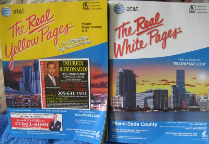 Phone Book REAL YELLOW PAGES Miami-Dade FL 2007/2008