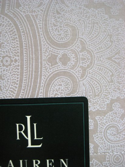 Ralph Lauren PILLOWCASES STD Damask Paisley Tan Kakhi
