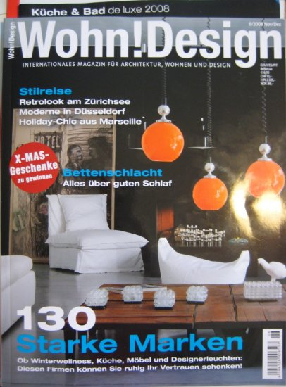 wohn design magazine architecture german nov dez 2008. Black Bedroom Furniture Sets. Home Design Ideas