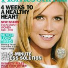 LADIES' HOME JOURNAL MAGAZINE APRIL 2009 HEIDI KLUM