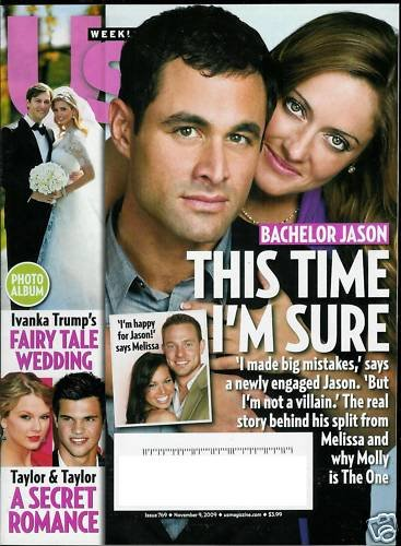 US WEEKLY MAGAZINE NOVEMBER 9, 2009 BACHELOR JASON