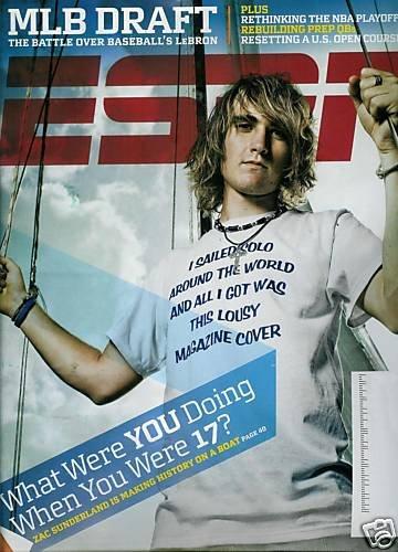 ESPN MAGAZINE JUNE 15, 2009 ZAC SUNDERLAND