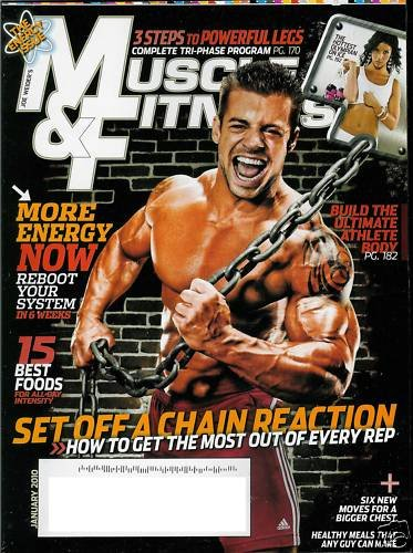 MUSCLE & FITNESS MAGAZINE JANUARY 2010 ALLISON BAVER