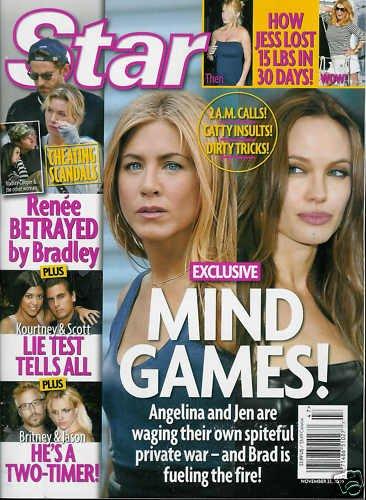 STAR MAGAZINENOVEMBER 23, 2009 ANGELINA AND JENNIFER