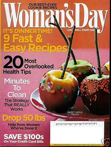 WOMAN'S DAY MAGAZINE SEPTEMBER 15, 2009