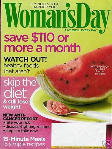 WOMAN'S DAY MAGAZINE JUNE 16, 2009