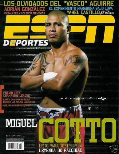 ESPN DEPORTES MAGAZINE OCTOBER / NOVEMBER 2009 COTTO