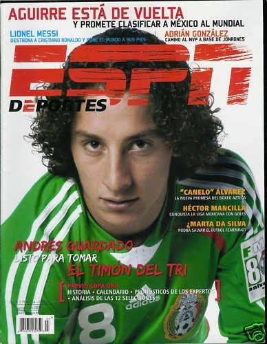 ESPN DEPORTES MAGAZINE JUNE / JULY 2009 ANDRES GUARDADO