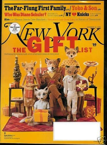 NEW YORK MAGAZINE NOVEMBER 23, 2009 THE GIFT LIST