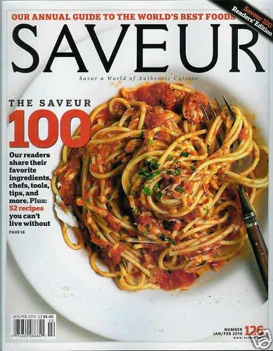 SAVEUR MAGAZINE NUM. 126 JANUARY / FEBRUARY 2010
