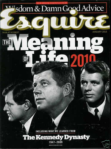 ESQUIRE MAGAZINE JANUARY 2010 THE MEANING OF LIFE