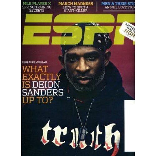 ESPN MAGAZINE MARCH 22, 2010 DEION SANDERS