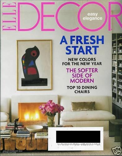 ELLE DECOR MAGAZINE JANUARY / FEBRUARY 2010