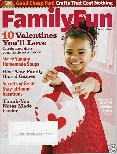 FAMILY FUN MAGAZINE FEBRUARY 2009
