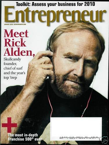 ENTREPRENEUR MAGAZINE JANUARY 2010 RICK ALDEN