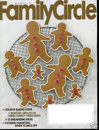 FAMILY CIRCLE MAGAZINE NOVEMBER 29, 2009