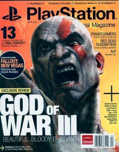 PLAYSTATION THE MAGAZINE APRIL 2010 GOD OF WAR III