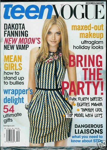 TEEN VOGUE MAG. DECEMBER / JANUARY 2010 DAKOTA FANNING