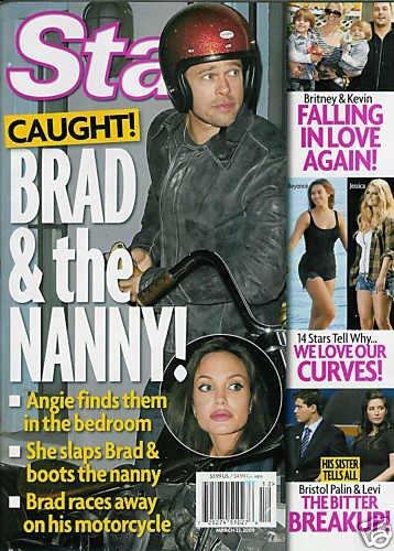 STAR MAGAZINE MARCH 23, 2009 BRAD PITT