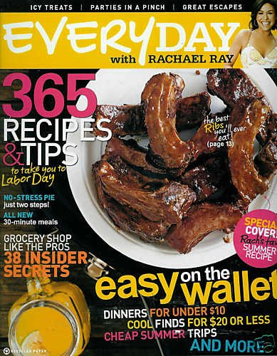 EVERYDAY WITH RACHAEL RAY MAGAZINE AUGUST 2009