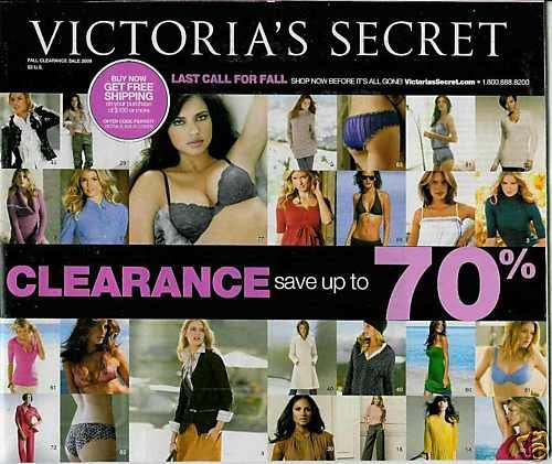 VICTORIA'S SECRET CATALOG FALL CLEARANCE SALE 2009