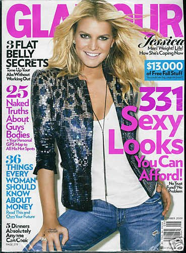 GLAMOUR MAGAZINE SEPTEMBER 2009 JESSICA SIMPSON