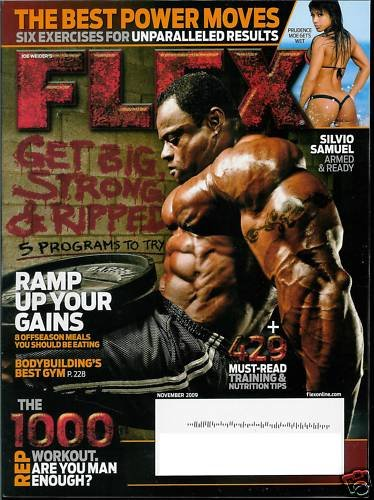 FLEX MAGAZINE NOVEMBER 2009 SILVIO SAMUEL