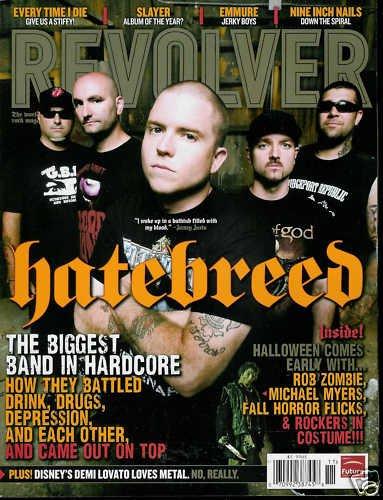 REVOLVER MAGAZINE NOVEMBER 2009 HATEBREED