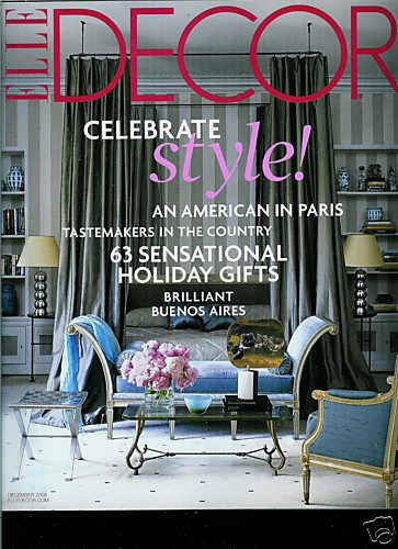 ELLE DECOR MAGAZINE DECEMBER 2008 No. 152
