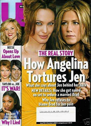 US WEEKLY MAGAZINE DEC.1/08. ANGELINA & JEN REAL STORY