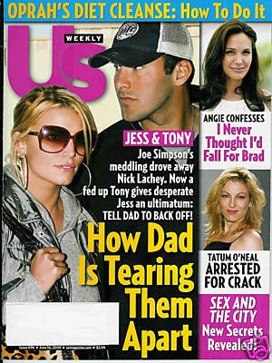 US WEEKLY MAGAZINE JUNE 16, 2008 JESSICA & TONY ROMO