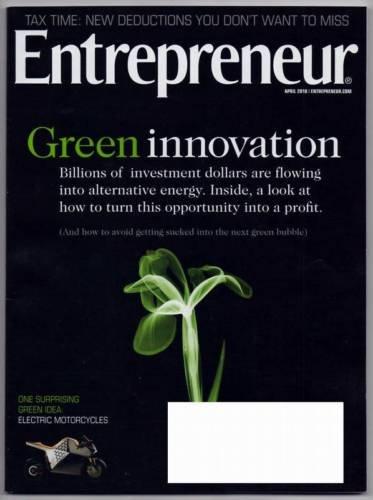 ENTREPRENEUR MAGAZINE APRIL 2010 GREEN INNOVATIONS