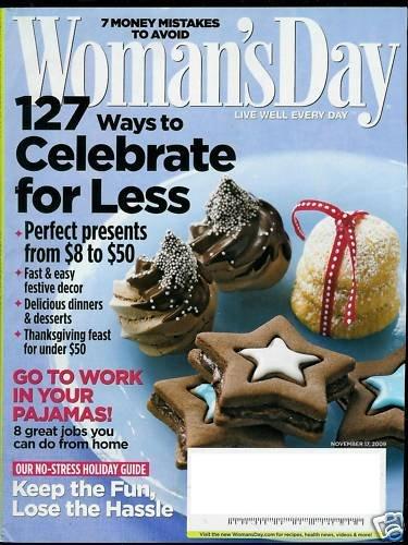 WOMAN'S DAY MAGAZINE NOVEMBER 17, 2009