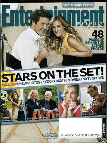 ENTERTAINMENT WEEKLY MAGAZINE OCTOBER 9, 2009 STARS ON THE SET