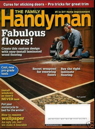 THE FAMILY HANDYMAN MAGAZINE NOVEMBER 2009 FLOORS