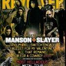REVOLVER MAGAZINE AUGUST 2009 MANSON + SLAYER