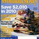 WOMAN'S DAY MAGAZINE JANUARY 2010