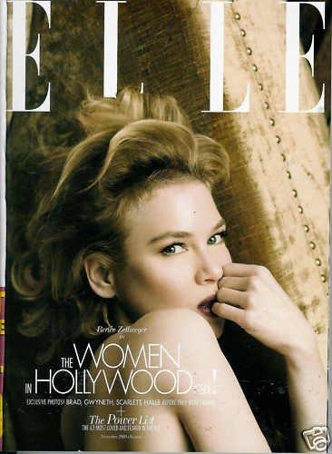 ELLE MAGAZINE NOVEMBER 2009 RENEE ZELLWEGER