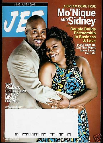 JET MAGAZINE JUNE 8, 2009 MO'NIQUE AND SIDNEY