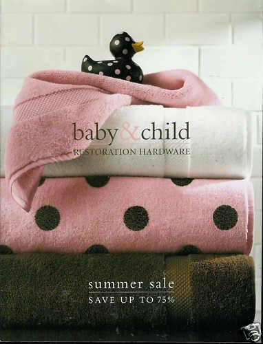 RESTORATION HARDWARE BABY & CHILD SUMMER SALE 2009