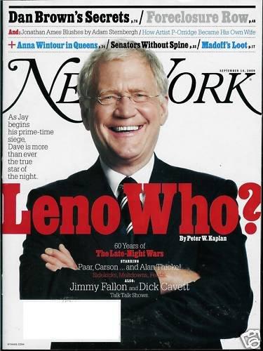 NEW YORK MAGAZINE SEPTEMBER 14, 2009 DAVID LETTERMAN