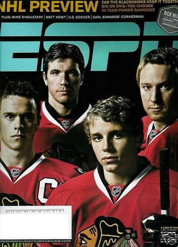 ESPN MAGAZINE OCTOBER 5, 2009 BLACKHAWKS,  NHL PREVIEW
