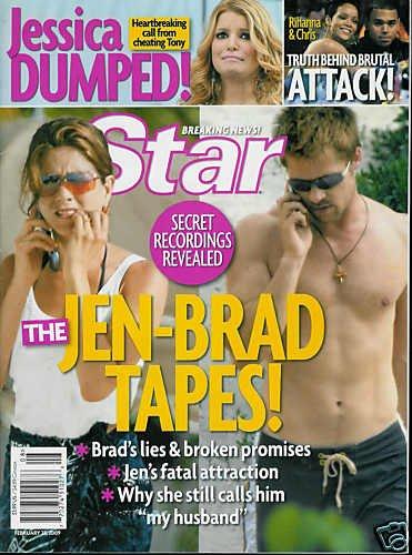 STAR MAGAZINE FEBRUARY 23, 2009 THE JEN-BRAD TAPES!