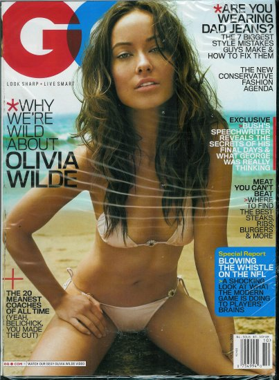 GQ MAGAZINE OCTOBER 2009 OLIVIA WILDE
