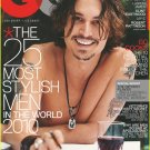 GQ MAGAZINE FEBRUARY 2010 JOHNNY DEPP