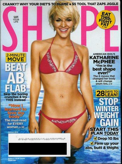 SHAPE MAGAZINE FEBRUARY 2010 KATHERINE MCPHEE