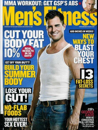 MEN'S FITNESS MAGAZINE FEBRUARY 2010 GEORGE EADS